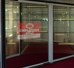 Employee Only Clear Window Decals