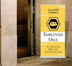 Employee Only Roll Up Banner Stands