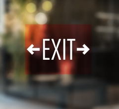 Exit Clear Window Decals