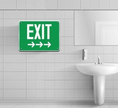 Exit Restroom Signs