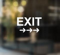 Exit Vinyl Letters