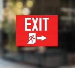 Exit Window Decals Opaque
