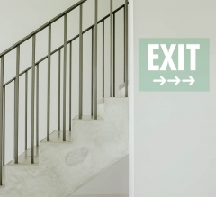 Exit Clear Surface Decals
