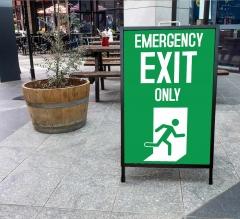 Exit Metal A Frames