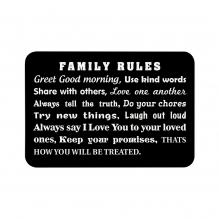 Family Rules Floor Mats