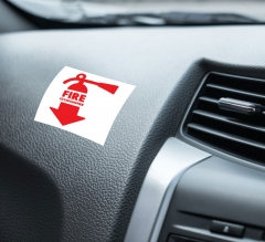 Fire Extinguisher Car Signs