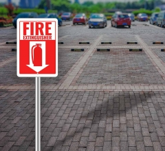 Fire Extinguisher Street Signs