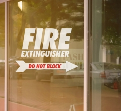 Fire Extinguisher Vinyl Letters
