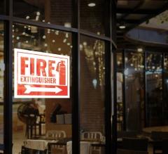 Fire Extinguisher Window Decals Opaque