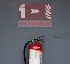 Fire Extinguisher Clear Surface Decals