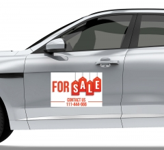 For Sale Car Signs