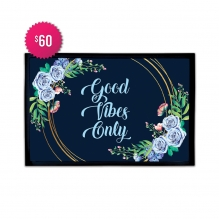 Free Good Vibes Only Outdoor Floor Mats (2.25' x 1.5')