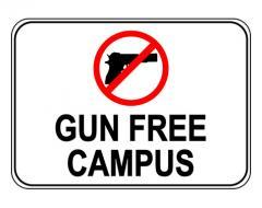 Gun Free Campus Sign