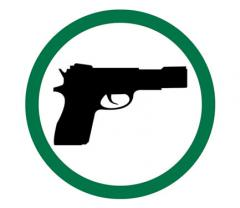 Guns Permitted Symbol Label