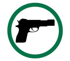Guns Permitted Symbol Sign