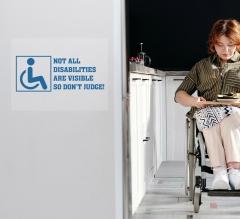 Handicap Clear Surface Decals
