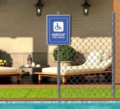 Handicap Pool Signs