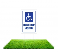 Handicap Yard Signs