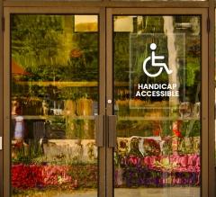 Handicap Clear Window Decals