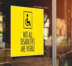 Handicap Window Decals Opaque
