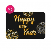 Free Happy New Year Indoor Floor Mats (2.25' x 1.5')