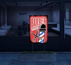 HIP Reflective Barber Shop Yard Signs