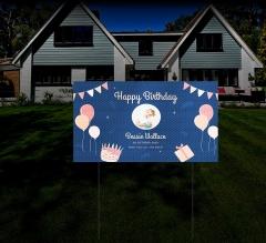 HIP Reflective Birthday Yard Signs