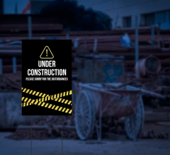 HIP Reflective Construction Yard Signs