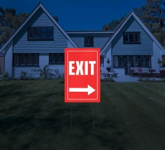 HIP Reflective Exit Yard Signs