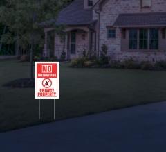 HIP Reflective No Trespassing Yard Signs
