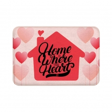Home Is Where The Heart Is Floor Mats