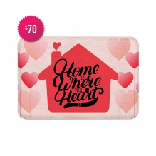 Free Home Is Where The Heart Is Indoor Floor Mats (3' x 2')