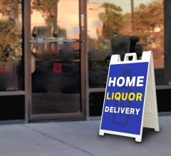 Home Liquor Delivery Available Signicade White