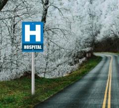 Hospital Street Signs