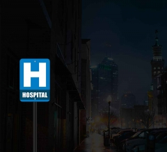 Reflective Hospital Street Signs