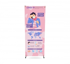 Safety Awareness Korean Style X Banner Stands
