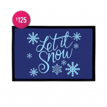 Free Let It Snow Outdoor Floor Mats (3' x 2')