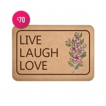 Free Live Laugh Love Indoor Floor Mats (3' x 2')