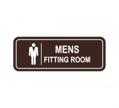 Men's Fitting Room Sign