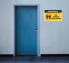 No Public Restroom Signs