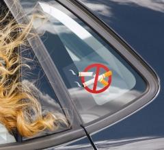No Smoking Car Signs Clear