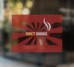 No Smoking Clear Surface Decals