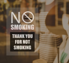 No Smoking Clear Window Decals