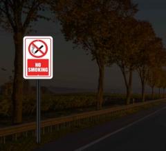 Reflective No Smoking Street Signs