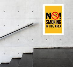 No Smoking Surface Decals