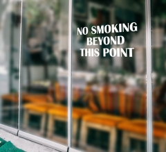 No Smoking Vinyl Letters