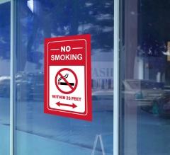 No Smoking Window Decals Opaque