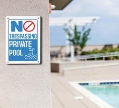 No Trespassing Pool Signs