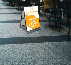 No Dining Take Out and Curbside Metal Frames