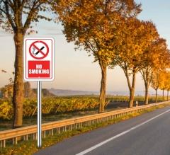 No Smoking Street Signs